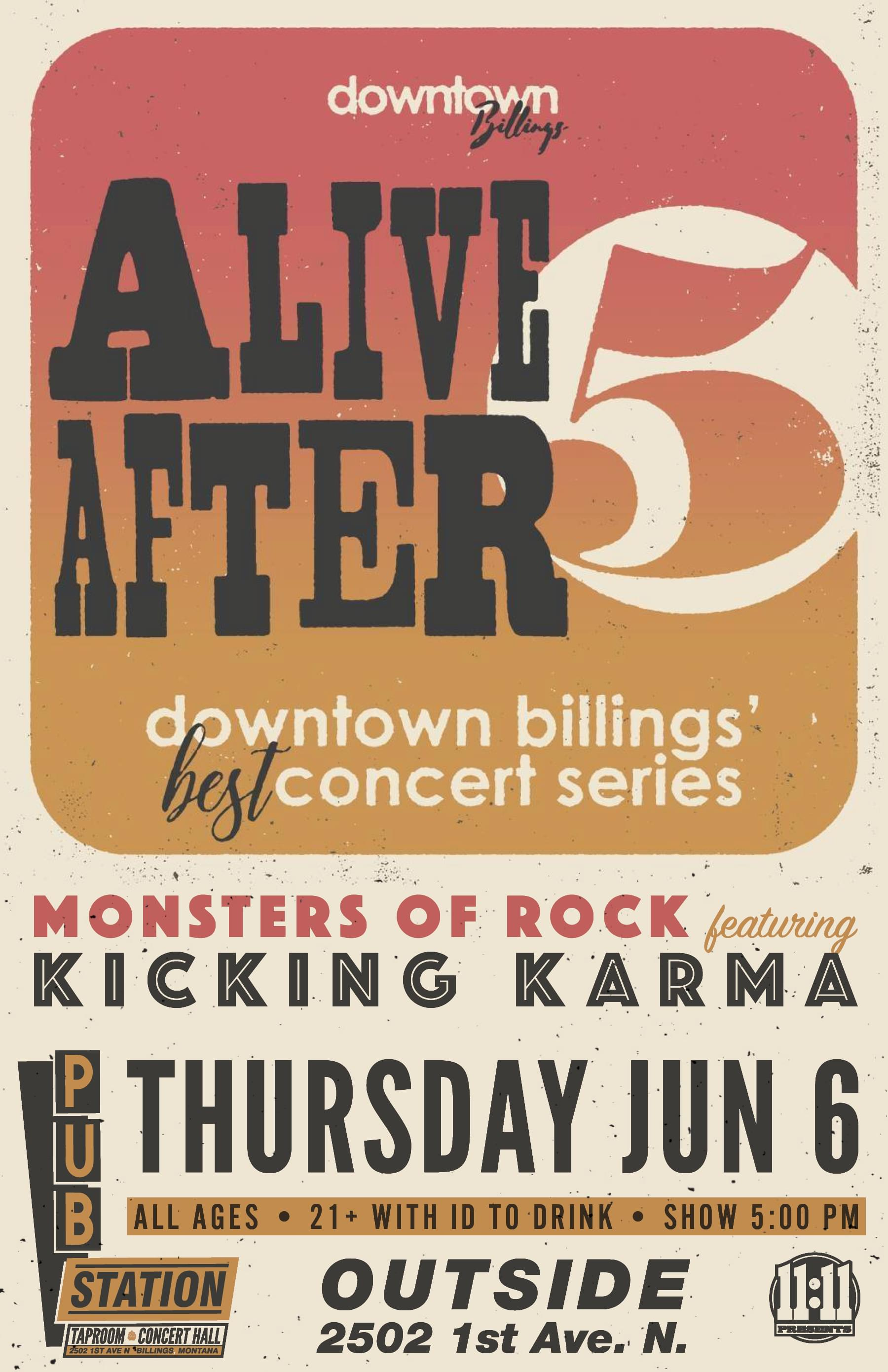 Alive After 5 w/ Monsters of Rock Tribute featuring Kicking Karma