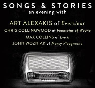 """Songs & Stories"" An Evening With Art Alexakis Of Everclear, Chris Collingwood Of Fountains Of Wayne, Max Collins Of Eve 6, John Wozniak Of Marcy Playground @ The Paramount 5/29"