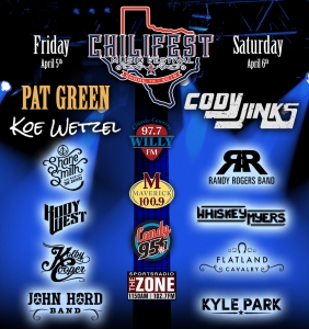 Chilifest 2019 Lineup