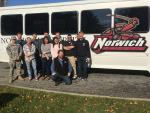 Wild Bill Sargent recently gave Norwich students studying communications a tour of WOKO.