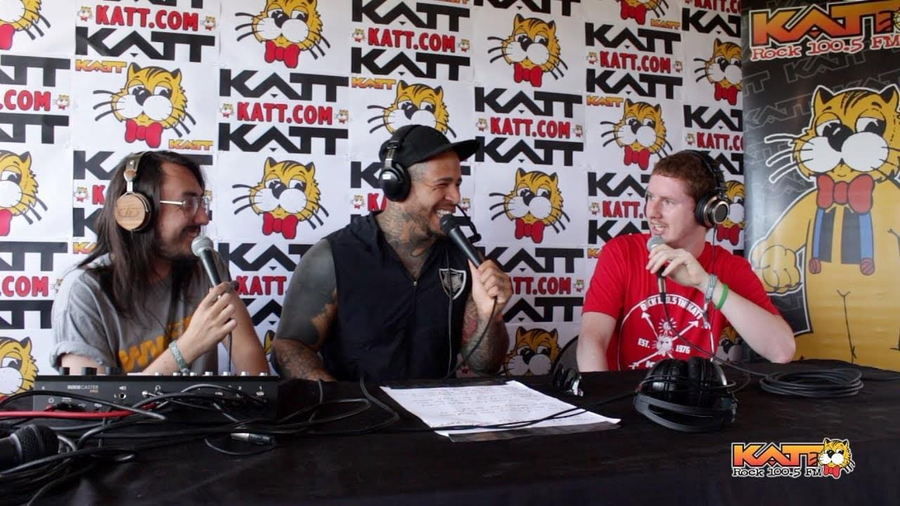 [Video] KATT at Rocklahoma 2019 – Cameron & Travis talk to Tommy Vext of BAD WOLVES