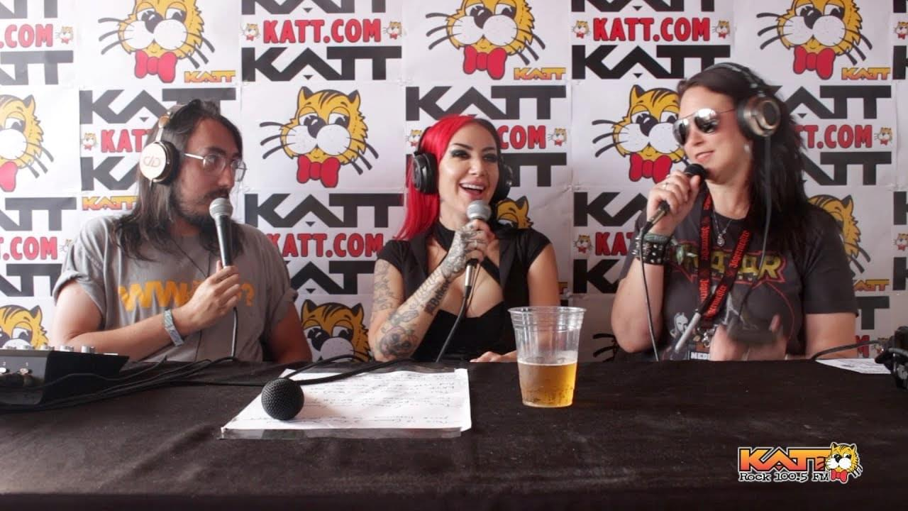 [VIDEO] KATT at Rocklahoma – Cameron & Allison talk to Ash Costello of NEW YEAR'S DAY
