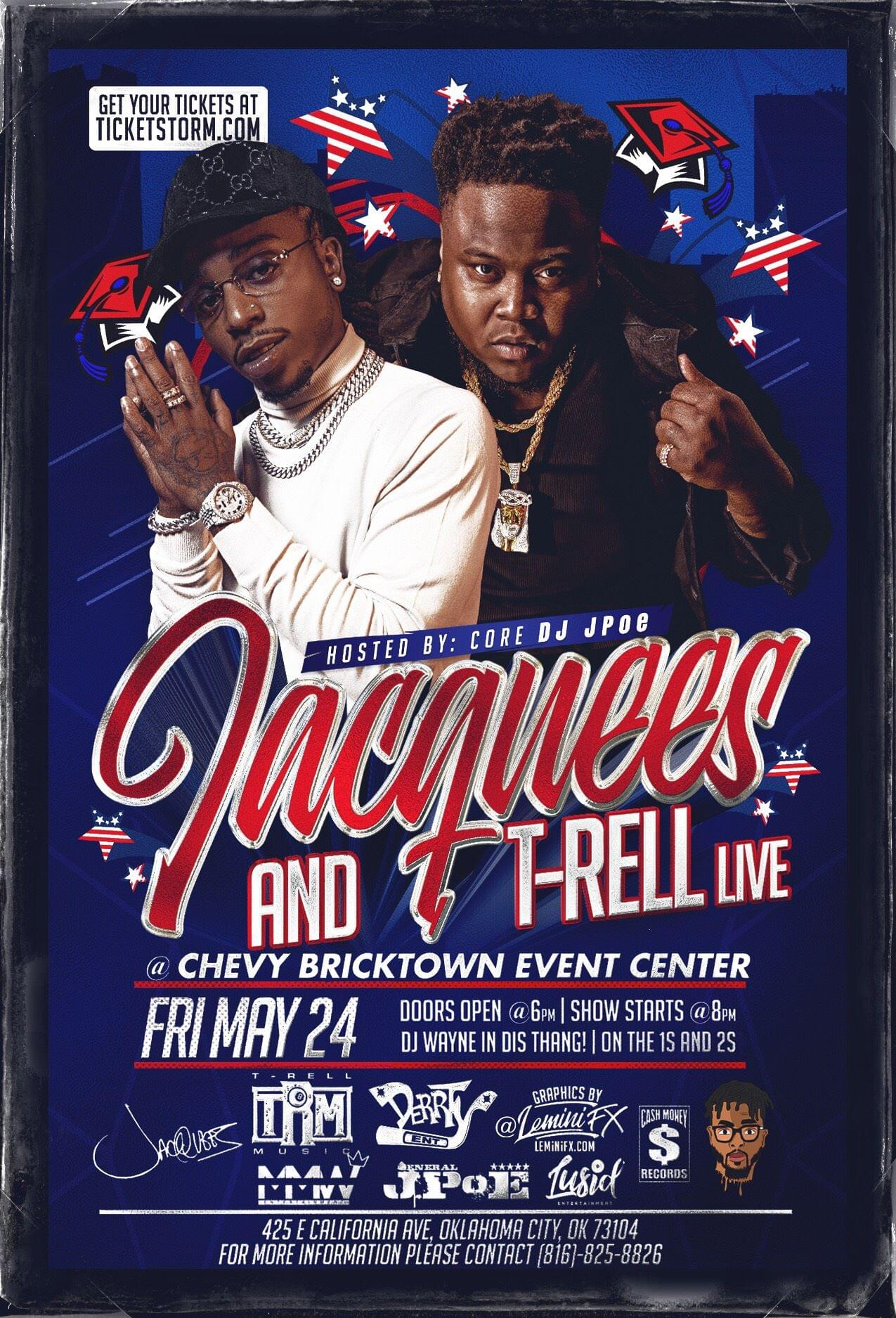 JACQUEES & T-RELL LIVE MAY 24TH IN OKC!!