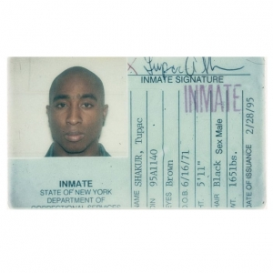 TUPAC'S PRISON ID IS UP FOR AUCTION