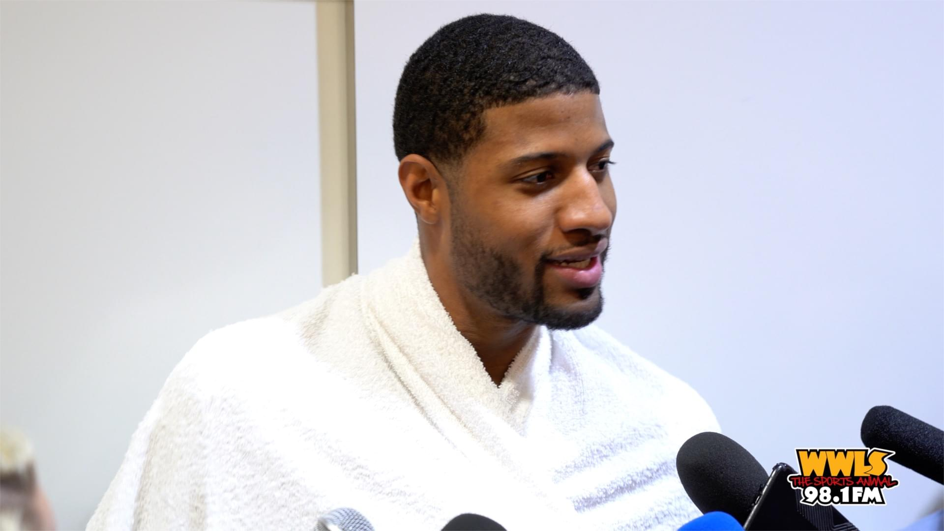 PAUL GEORGE DISCUSSES WIN OVER TRAIL BLAZERS