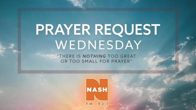 Prayer Request Wednesday