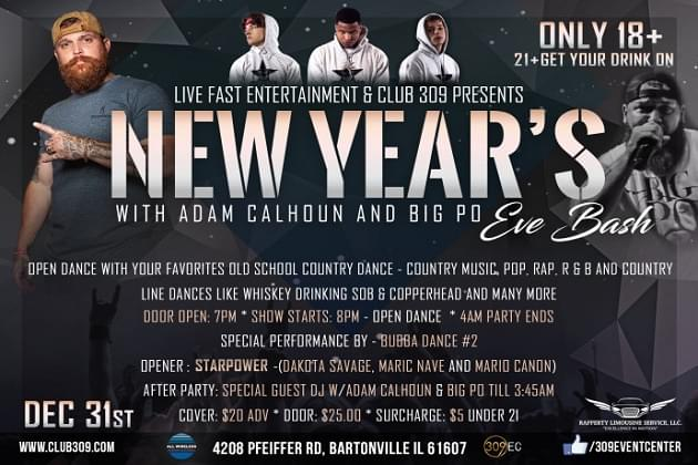 New Years Eve Night's Biggest Party Til Almost 4am Right Here!