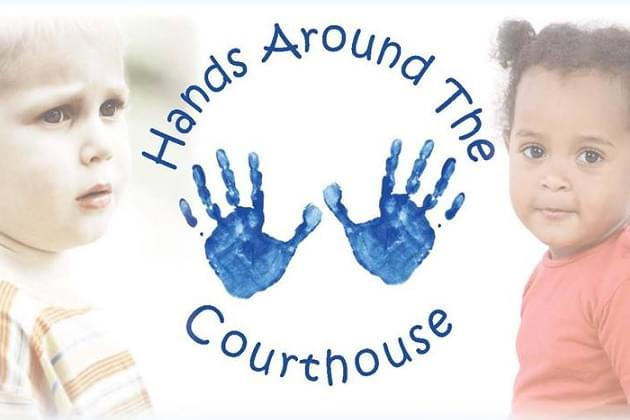 Hands Around the Courthouse Downtown Peoria
