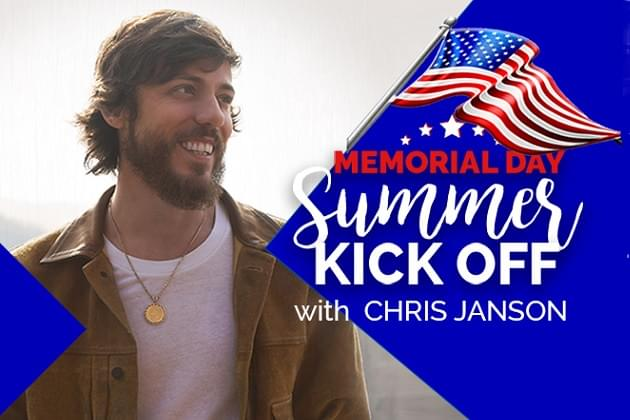 Memorial Day Weekend With Chris Janson Host On 973 Nash FM