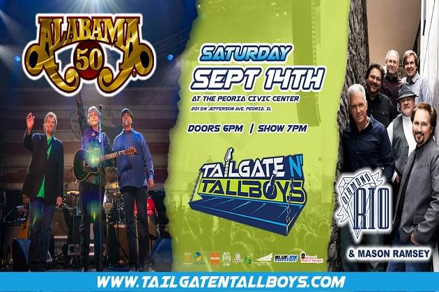 Tailgate N Tallboys Welcomes Alabama & Diamond Rio To Peoria Civic Center September 14