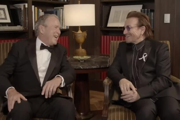 Bono Gets Award From George W. Bush [VIDEO]