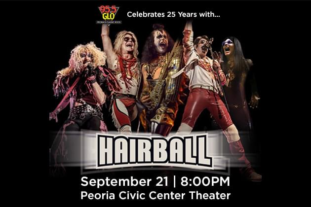 95.5 GLO Celebrates 25 Years with Hairball at the Peoria Civic Center
