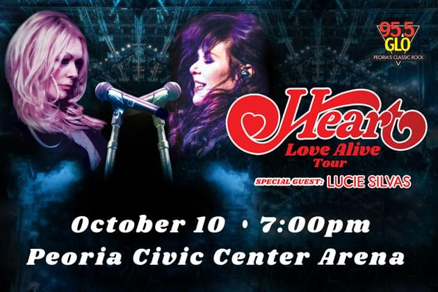 GLO Welcomes HEART To The Peoria Civic Center Arena On October 10th As We Celebrate 25 Years!