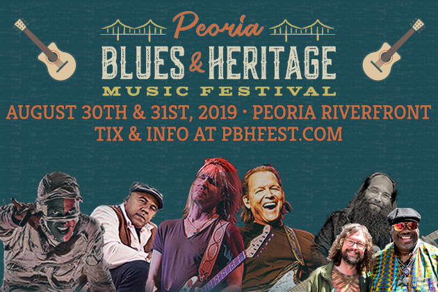 See Here Come The Mummies, Kenny Wayne Shepherd, Tommy Castro, Ronnie Baker Brooks, And More At Peoria Blues & Heritage Music Festival Aug 30-31!