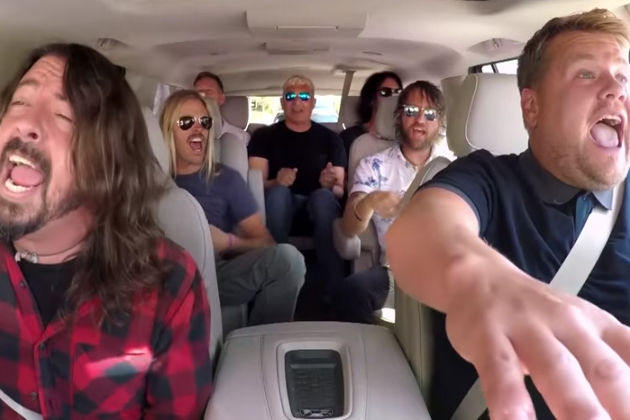 Foo Fighters Go Carpooling With James Corden Video Wixo Fm