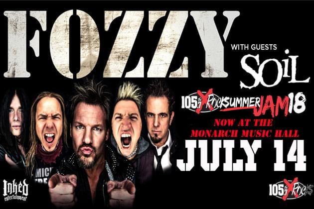 Summer Jam With Fozzy and Soil Moved To Monarch Music Hall