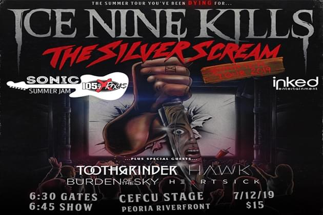 Ice Nine Kills Will Be Joined By Burden Of The Sky, Toothgrinder, Hawk, and Heartsick THIS Friday At CEFCU!