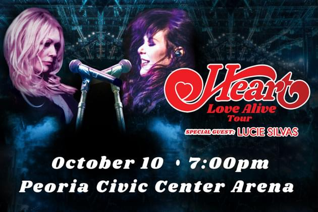 Rock And Roll Hall Of Fame Legends HEART Set To Rock Peoria Civic Center On October 10th!