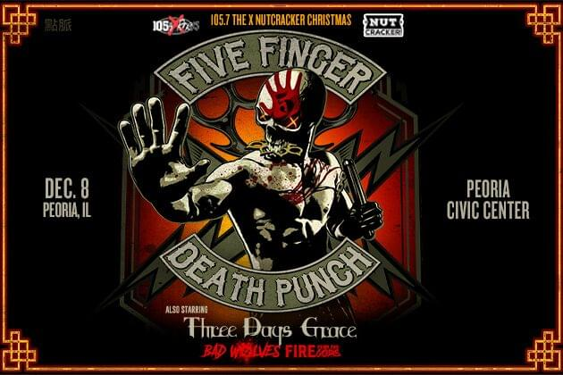 Pre-Sale X Nutcracker Tickets On Sale Now, You Can Rock With Five Finger Death Punch, Three Days Grace, And Bad Wolves!