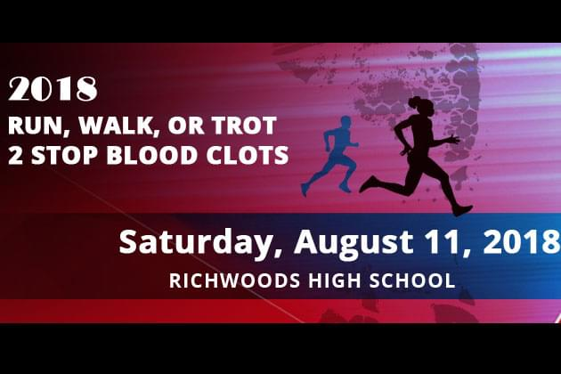Run, Walk, or Trot 2 Stop Blood Clots This Saturday In Peoria [DETAILS]