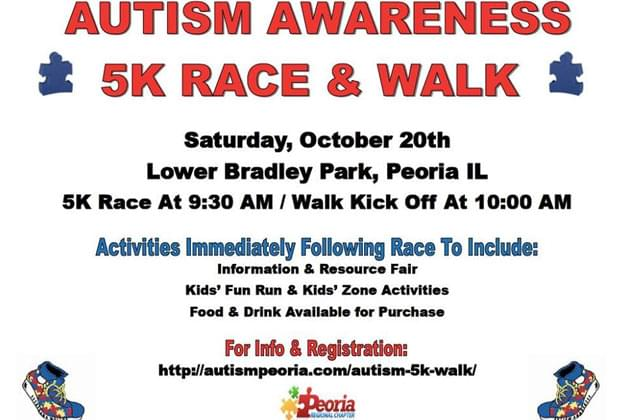 Don't Miss The Autism 5k & Walk at Bradley Park October 20th [DETAILS]