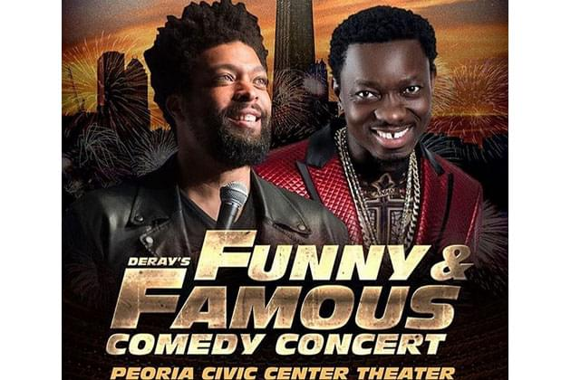 Deray Davis Annual Funny and Famous Comedy Concert Returns To Peoria December 28th!