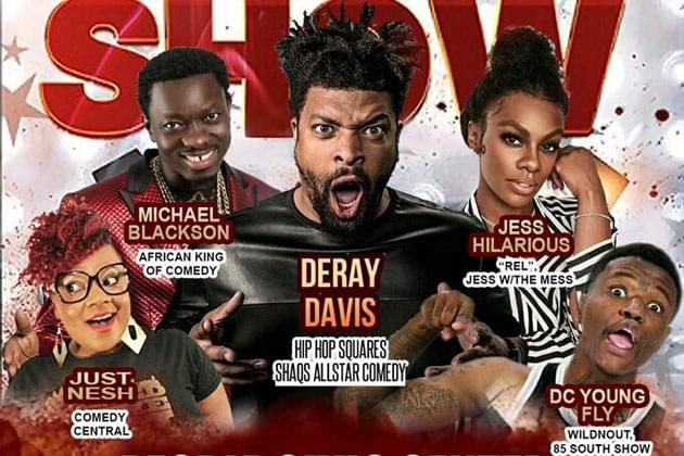 Deray Davis Funny and Famous Comedy Concert December 28th Gets Even BIGGER [DETAILS]