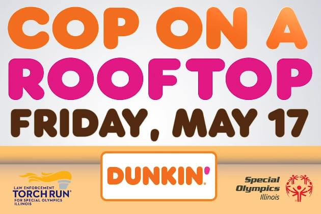 'Cop On A Roof' At Dunkin' To Benefit Special Olympics