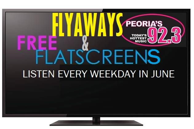 Free Flyaways & Flatscreens All During June