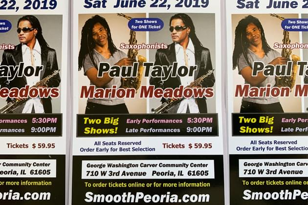 Don't Miss Saxophonists Paul Taylor & Marion Meadows Saturday June 22nd [DETAILS]