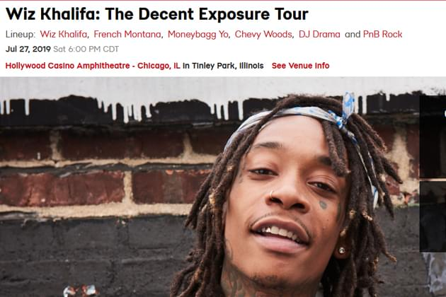 4cac10bb1982 Win Tickets For Wiz Khalifa: The Decent Exposure Tour! Posted on July 22,  2019. LiveNation Screen Shot!