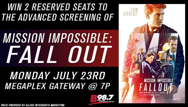 Win Reserved Seats to the Advanced Screening of Mission Impossible: Fallout!