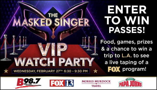 Win Passes to the VIP Watch party for The Masked Singer