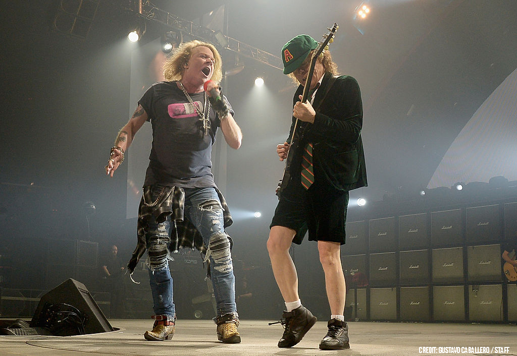 Angus Young Stages Airport Check for Guns N' Roses