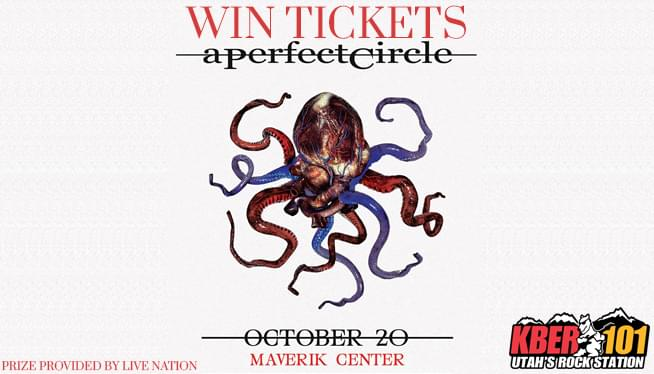 Win Tix to A Perfect Circle on October 20th at the Maverik Center from KBER101