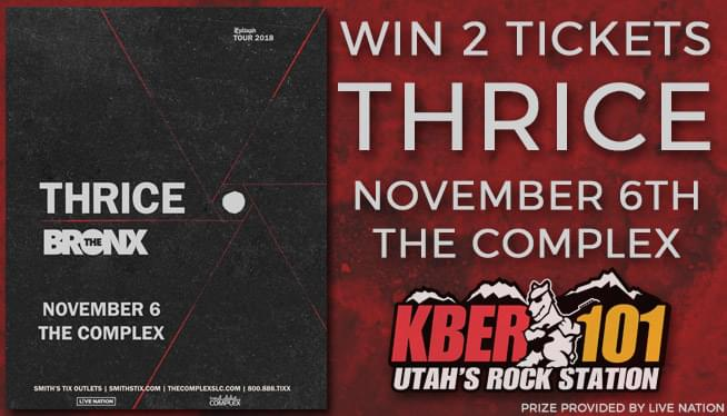 Win 2 Tickets to see THRICE on November 6th at The Complex!