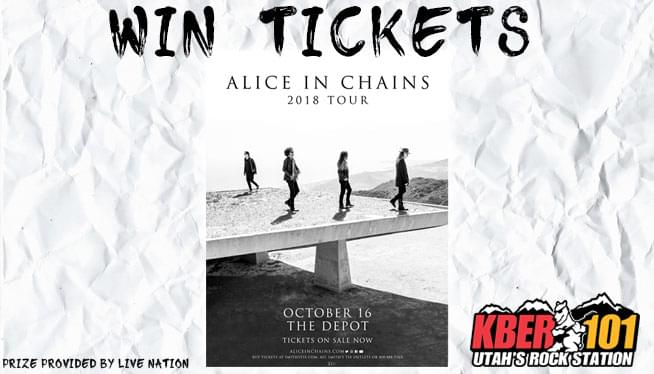 Win Tickets to Alice In Chains on October 16th at The Depot!