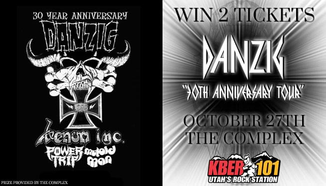"Win 2 Tix to the Danzig ""30th Anniversary Tour"" on October 27th!"