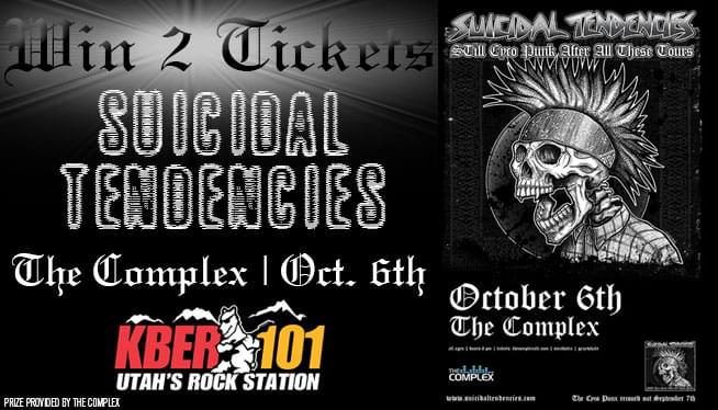 Win Tickets to SUICIDAL TENDENCIES! On October 6th at The Complex.
