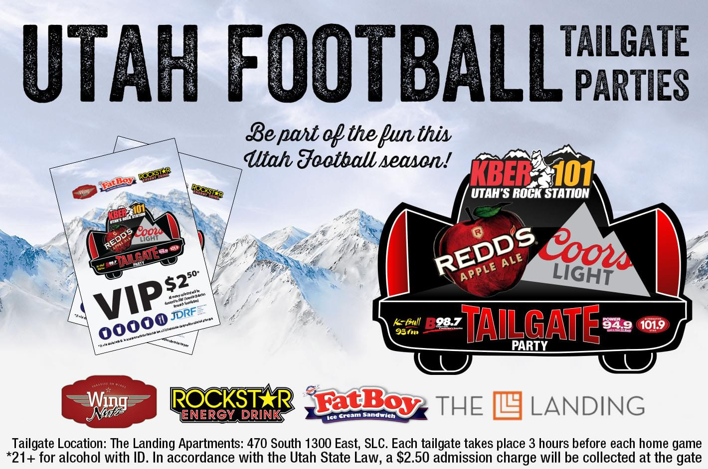 Tailgate with us for Utah Football