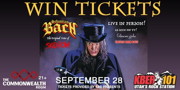 Win 2 Tix to Sebastian Bach September 28th at the Commonwealth Room From KBER 101