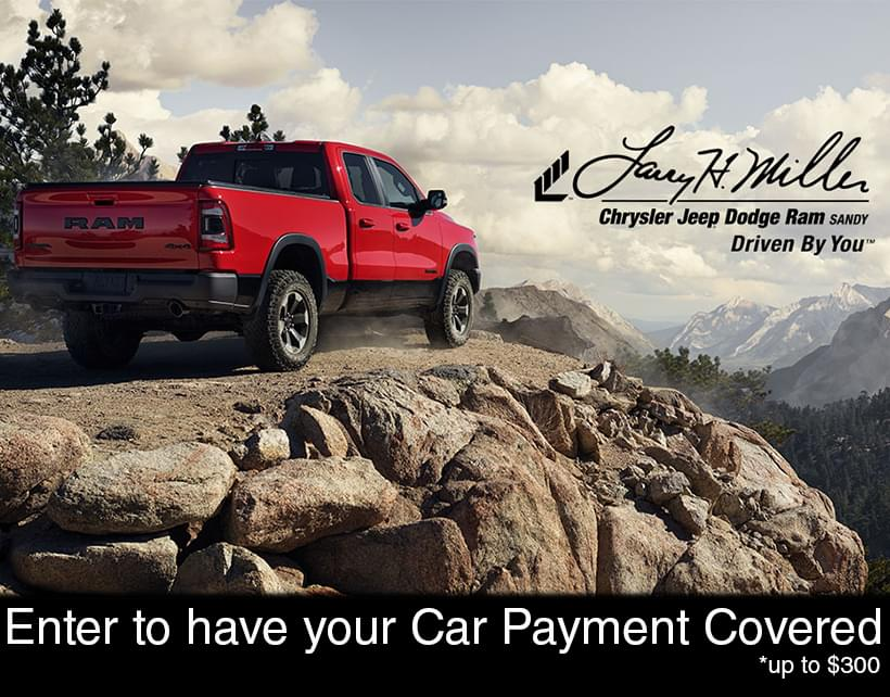 "KBER 101 & Larry H. Miller Chrysler Jeep Dodge Ram Want to Help ""Cover Your Car Payment"""