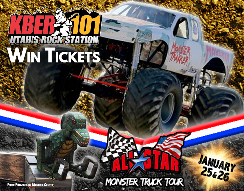 Win 4 Tix to The All Star Monster Truck Tour on Friday January 25th at the Maverik Center
