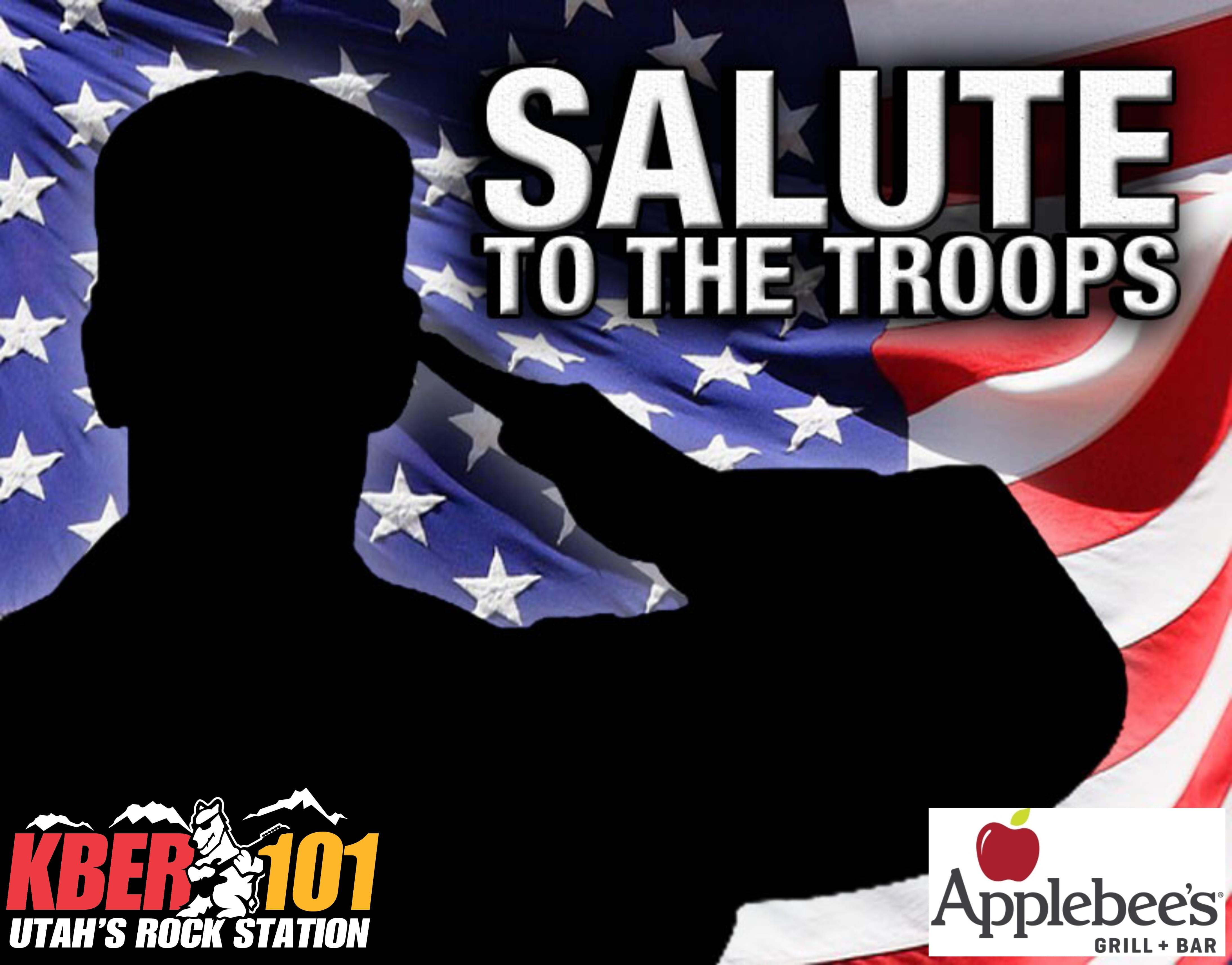 KBER 101 Salute To The Troops: Nominate Your Military Hero & You Might Win Gift Card to Applebee's