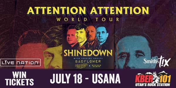 Win Tix to Shinedown with Badflower on July 18th at USANA