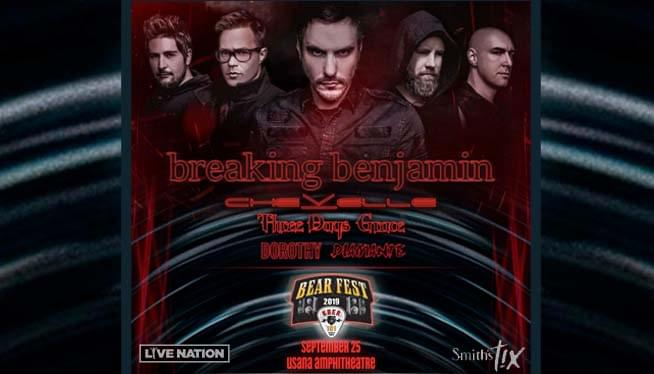 KBER 101 Bearfest 2019: Breaking Benjamin with Three Days Grace at USANA Amphitheatre September 25th!