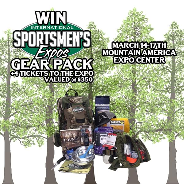 Win an $350 Gear Pack From Sportsmen's International Expo March 14-17 at the Mountain America Expo Center.
