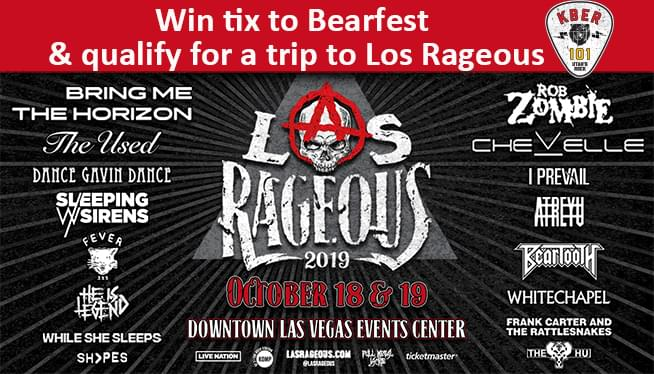 Win Tix to the 3rd Annual Las Rageous Music Festival on Friday, October 18 & Saturday, October 19 at Downtown Las Vegas Events Center