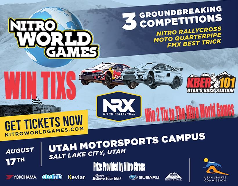 Win 2 Tix to The Nitro World Games on August 17th at Utah Motorsports Campus