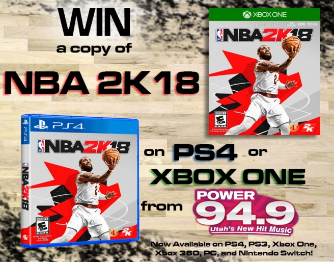 Win a Copy of NBA 2K18 on PS4 or XBOX ONE From POWER 94 9